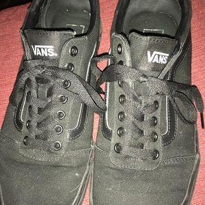 Mens Black Vans, EUC, size 10